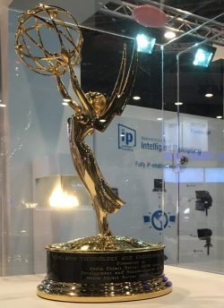 Autoscript's Emmy statue received by nomination from the MOS Group