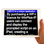 iEVO iPad app screen