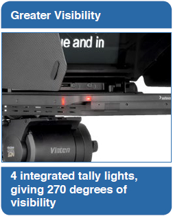 Greater Visibility: 4 integrated tally lights, giving 270 degrees of visibility